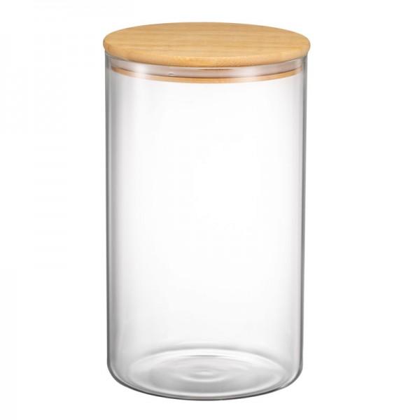 Стеклянный контейнер с бамбуковой крышкой 150*250 (ITT-50)
