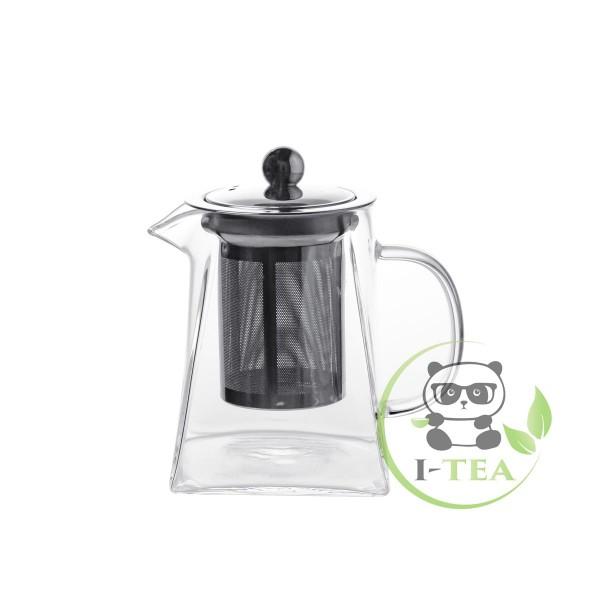 Заварочный чайник с металлической крышкой 550 мл